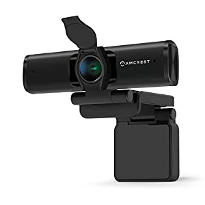 Amcrest 4K Webcam Microphone Privacy Cover Web Cam USB Camera Computer HD Streaming Webcam for PC