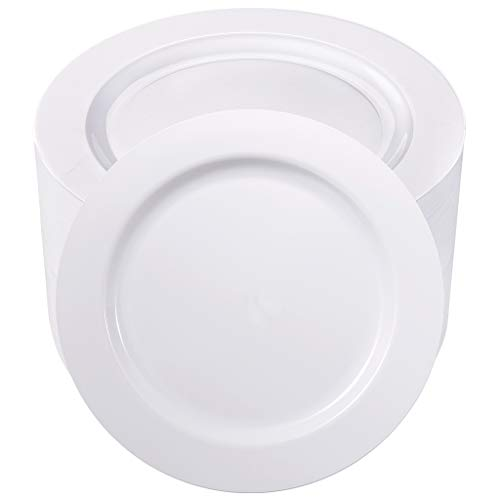 Heavyweight White Plastic Plate - 6