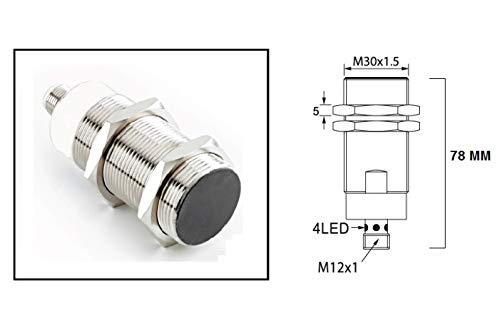 RADWELL VERIFIED SUBSTITUTE 872C-D10NP30-D4-SUB Replacement of Allen Bradley 872C-D10NP30-D4, Proximity Sensor - M30 INDUCTIVE, Cylindrical, Shielded, Threaded, 10MM Range, 3-Wire PNP, N/O, 4-PIN M12