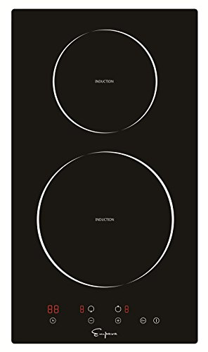 "Cooktop Range Glass (Empava 12"" Electric Induction Cooktop With 2 Burners Smooth Surface Black Tempered Glass EMPV-IDC12)"