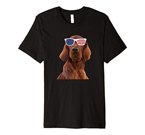 - Irish Setter Wearing Sunglasses 4th Of July Dog Premium T-Shirt