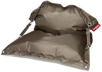 Fatboy® Buggle-Up Taupe | Polyester-Sitzsack pro unter freiem Himmel | Loungesessel im Outdoor-Umfeld | 185 x 137 cm