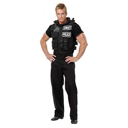 (SWAT Team Vest Costume Accessory Adult Police Cop Halloween Fancy)