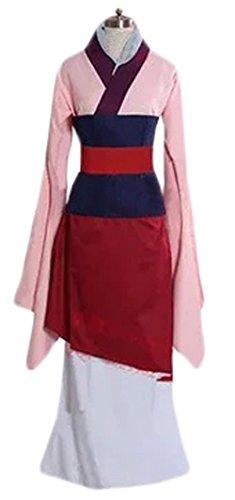 [Halloween Adult Women's Mulan Costume Deluxe Dress Custom Made (L)] (Adult Mulan Costumes)