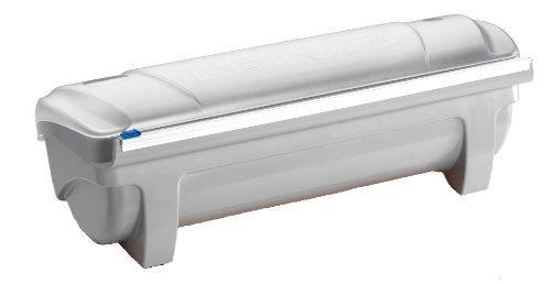 OKSLO Stainless non slip 1-roll kenkut film wrapper w/safe slide cutter by tablecraft