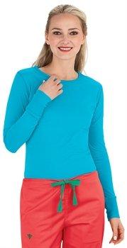 Peaches Uniforms Women's Long Sleeve Layering Tee, Bora Bora Pink, XS (Pro Tee Layering)