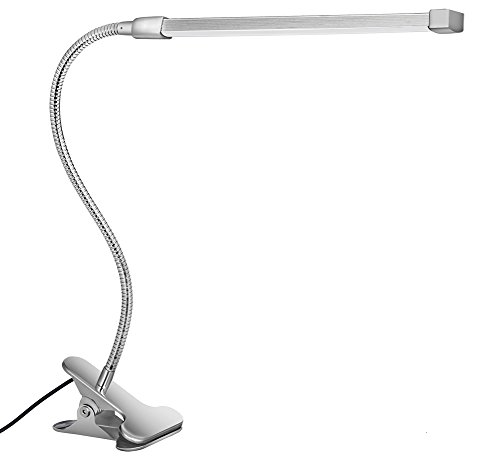 10W LED Clip on Lamp, Desk Light with 3 Color Mode 2M Cable Dimmer 10 Levels Clamp Table Lights by Svance