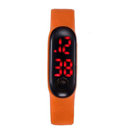 Clearance! Paymenow Men Sports Watches Walking Running Pedometer Watch Calorie Calculation Bracelet for Kids Women Men (Orange)