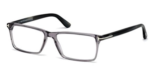 TOM FORD Men's TF 5408 020 Clear Gray Clear Rectangular Eyeglasses 56mm