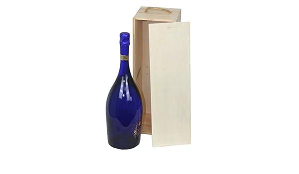 Rojo Hamper Magnum Botellas Caja de Madera con Tapa Deslizante, Madera, marrón, 14 x 41 x 13 cm: Amazon.es: Hogar