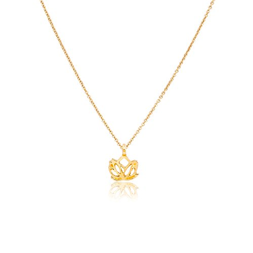 Zealmer New Beginnings Rising Lotus Flower Necklace Reminder