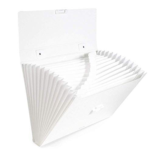 - SX1560 Portable Expansion Folder, 13 Pockets A4 Accordion File Manager, Color Labels, Suitable for Business/Office/Learning (Color : White)
