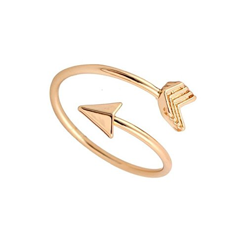 Heart Journey Ring (Arrow Rings Arrow Ring (Gold & Silver) Graduation Ring, Graduate Gift, Inspirational Ring, Journey, Nautical Ring, Travel Ring Toe Ring (brass-plated-gold))