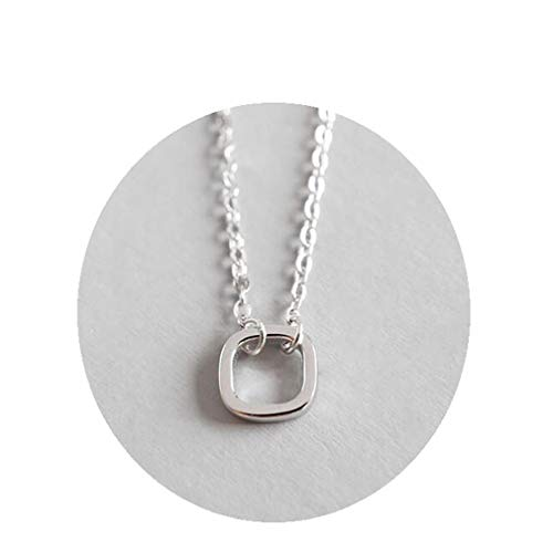 (VAN1 Can With Packing Or No With Packing 925 Silver Pendant Square Women Necklace For Women Gift white gold with packing)