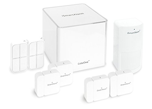iSmartAlarm Deluxe Home Security Package | Wireless DIY No Fee IFTTT & Alexa Compatible iOS & Android App | iSA5, White (Best Self Monitored Home Security)
