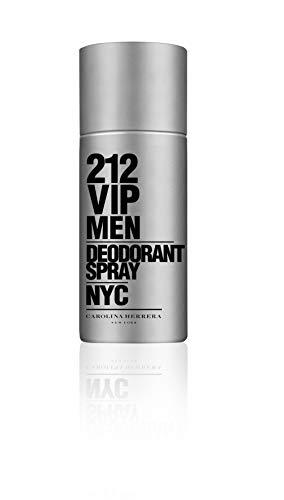 Deodorant Men 212 - Carolina Herrera 212 VIP Deodorant Spray for Men, 5 Ounce