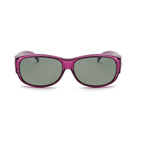 HONEY La combinaison de lunettes de soleil polarisées de myopie, les lunettes de sport sont conçues au-dessus des verres de prescription ( Couleur : D )
