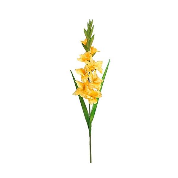 36.5″ Silk Gladiolus Flower Spray -Yellow (Pack of 12)