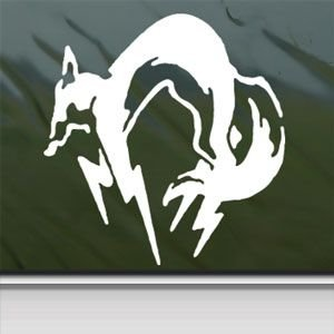 Metal Gear Sticker Decal Kojira Foxhound Snake Car Window Wall Macbook Notebook Laptop Sticker Decal (white, 4