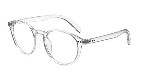 Kelens Retro Horned Rim Retro Classic Nerd Glasses Clear Lens Clear (Frame Plastic Transparent)