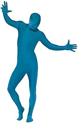 Smiffys Disfraz de Segunda Piel Color Azul - M: Amazon.es ...