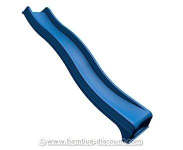 Kletterturm Wellenrutsche aus Kunststoff in blau, Länge 295cm - Kinderspielgeräte für Garten, Spielgeräte für Kinder, Spielturm, Spieltürme