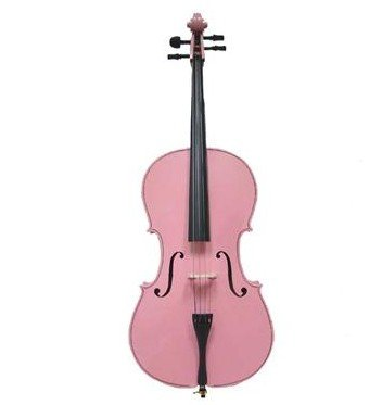 Merano MC100PK 1/8 Size Pink Cello with Bag and Bow by Merano