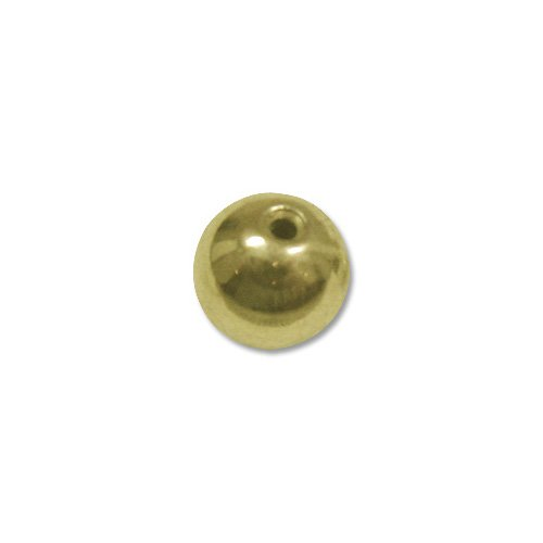 Package of 10 Memory Wire End Caps 5mm Gold Plated
