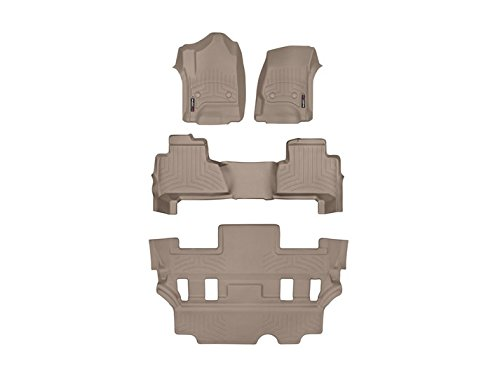 WeatherTech 455921 – 451492 1st & 2 nd行タン床ライナーfor 2011 – 2013キャデラックCST、CTS - VB00R6DUUFE--