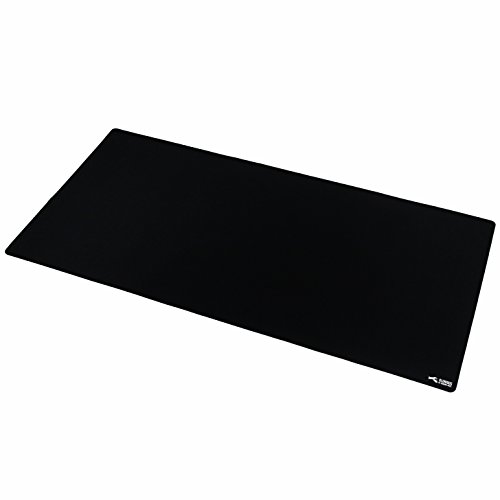 Glorious 3XL Extended Gaming Mouse Mat/Pad - Large, Wide (XLarge) Black Cloth Mousepad, Stitched Edges | 48x24