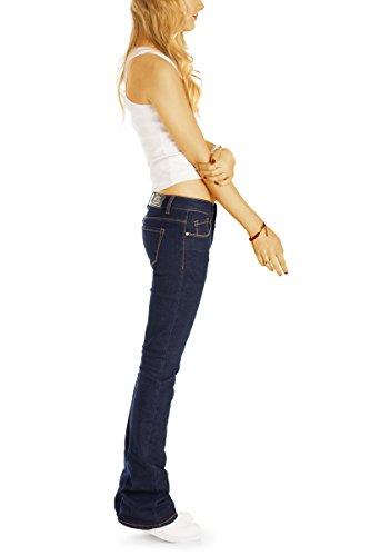 Jeans Femme bestyledberlin Bleu Fonc Bootcut B6q0T