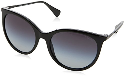 Ralph by Ralph Lauren Women's 0ra5232 Cateye Sunglasses, Black, 56.0 (Ralph Prescription Sunglasses)