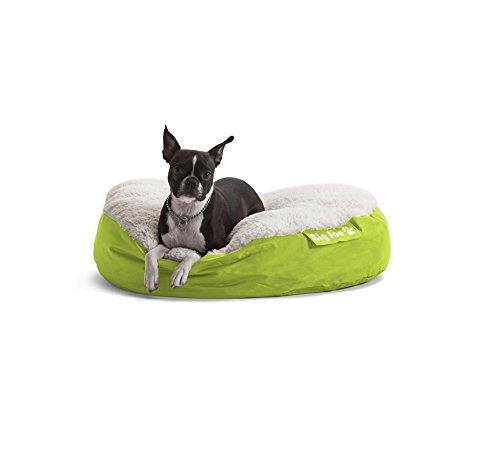 Round Pet Bed in Lime (Small: 28 in. L x 28 in. W x 6 in. H (3 lbs.))