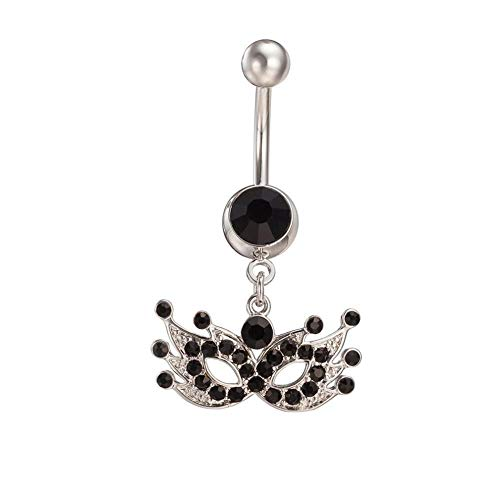 Used, Belly Bar Dangle Reverse Clear Crystal Body Piercing for sale  Delivered anywhere in USA