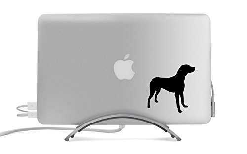 American Foxhound Dog Silhouette Five Inch Black Decal for Car, Truck, MacBook, Laptop, (Foxhound Silhouette)