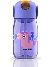 Zoku ZK201 Purple Kids Flip Straw Bottle, 415ml