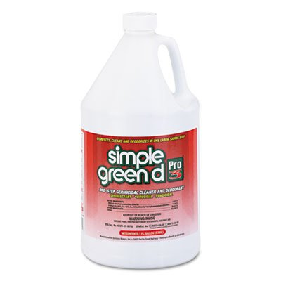 Pro 3 Germicidal Cleaner, 1gal Refill Bottle w/Childproof Cap, Sold as 1 Carton