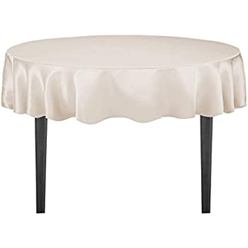 Amazon Com Linentablecloth 70 Inch Round Satin Tablecloth