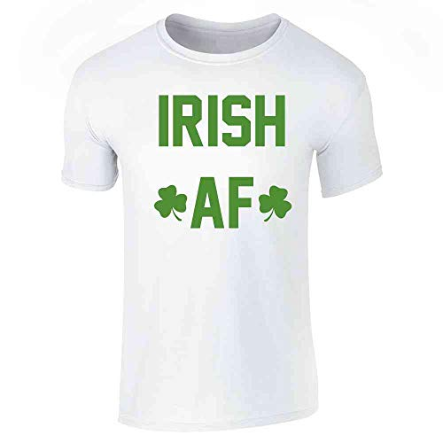 (Pop Threads Irish AF St. Patrick's Day Funny White S Short Sleeve T-Shirt)