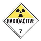 Labelmaster Z-RVW7R Radioactive Hazmat Placard, Worded, Rigid Vinyl (Pack of 25)