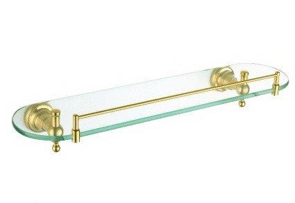 HGT Bathroom Glass Shelf,Brass Made,Gold #38: Amazon.co.uk: Kitchen ...