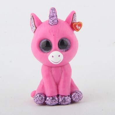 Coiny Bebe 1pcs Random Mini Collectible Toys Hand Painted with Checklist Dog Penguin Unicorn Giraffe Animal Pink Unicorn
