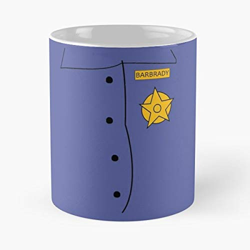 (Officer Barbrady South Park Costume - 11 Oz White -coffee Mug- Unique Birthday Gift-the Best Gift For Holidays. )