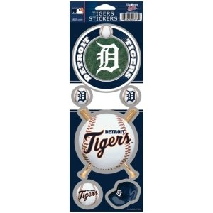 WinCraft MLB Detroit Tigers Prismatic Stickers, Team Color, One Size