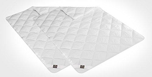 Sei Design® 2-er Pack warme Ganzjahres-Bettdecken Classic Dream Mikrofaser 135 x 200 , weiß, gestept, schadstoffgeprüft nach Öko-Tex Standard 100