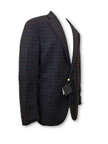 Cashmere Cashmere Corneliani And And ID Brown 46R Fully in Structured Jacket Blue Size Swv7PrqSx