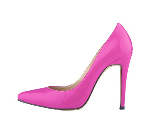purple Shoes Shallow Toe Elegant Heel High pu Pumps patent Women's Pointed Mouth Stiletto qvtWcOFUzw