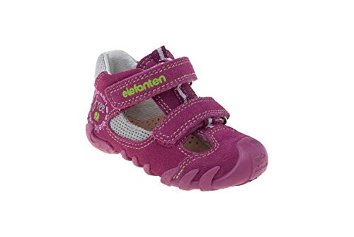 elefanten First Shoes - Babies Free - Soft, High-Quality Leather, with an Anatomic Pad, 3 Part Flaxibale Sole Allows Free Movment - Size 5.5 AU - Pink