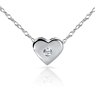 Amazon diamond heart pendant in 14kt white gold pendant diamond heart pendant in 14kt white gold mozeypictures Images