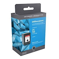 Office Depot(R) Model 56 (C6656A) Remanufactured Black Ink Cartridge (C6656a Inkjet 56 Black Cartridge)